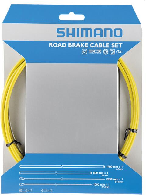 Shimano Road Bremszugset SIL-TEC beschichtet gelb